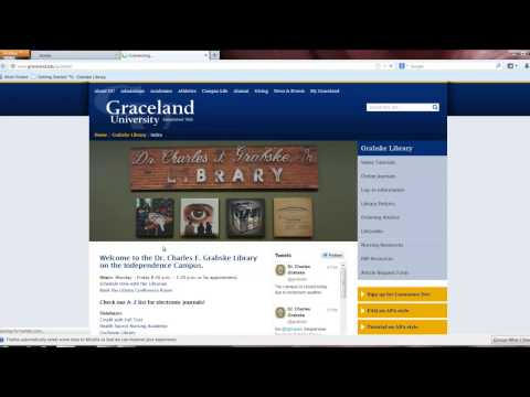 Requesting Articles Online From the Grabske Library