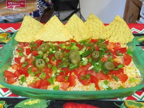 Easy Layered Mexican Bean Dip Recipe