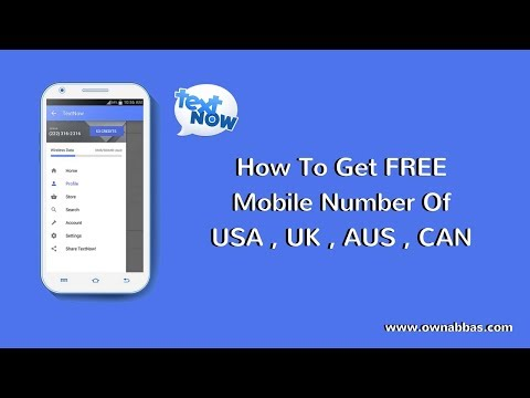 How To Get  Free Phone number without  service provider
