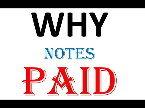 Why we take money for notes