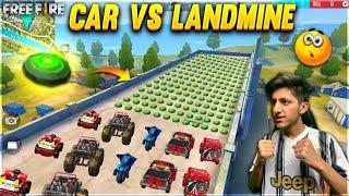 Free Fire Car Vs Landmine Race  Funny Moment 😂😂😂 - Garena Free Fire