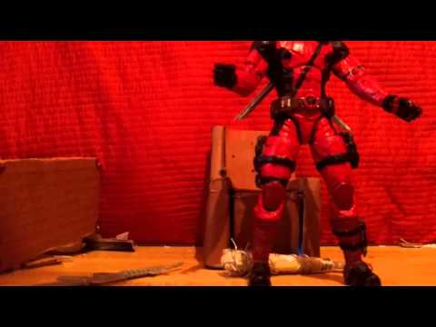Movie Deadpool custom action figure review.