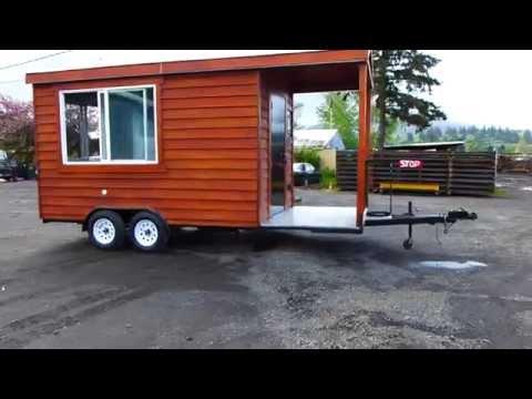 Cedar Concession Food Cart Mobile Kitchen BBQ
