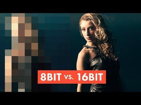 VISUAL BREAKDOWN: 8-bit vs 16-bit images