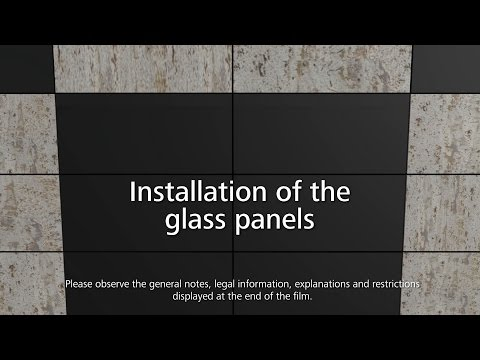 StoVentec curtain walls - how to install glass cladding panels onto the rainscreen cladding system