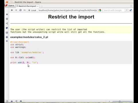 Restrict the import in Perl by listing the functions to be imported