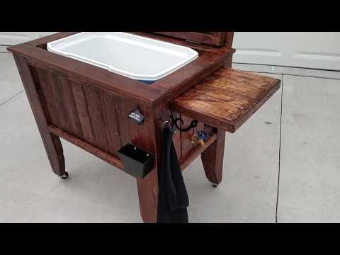 Wood cooler box