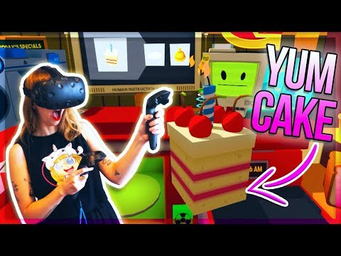 BEST BIRTHDAY CAKE EVER! LET'S PLAY VR JOB SIMULATOR