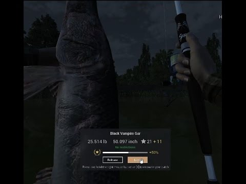 Fishing Planet. How to catch Black vampire Gar in Missouri