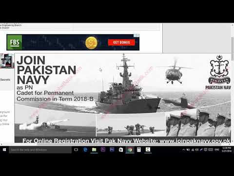 Join Pakistan Navy as PN Cadet 2018 May Online Registration for Permanent Commission in Term 2018-B
