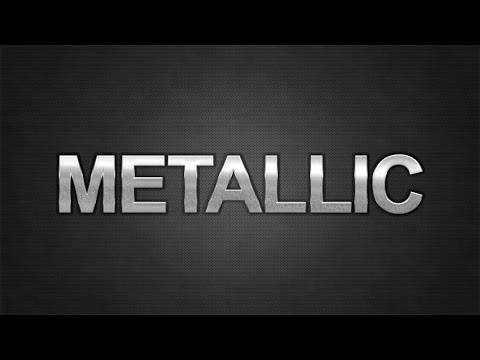 How To: Create Metallic Text in Adobe Photoshop CC