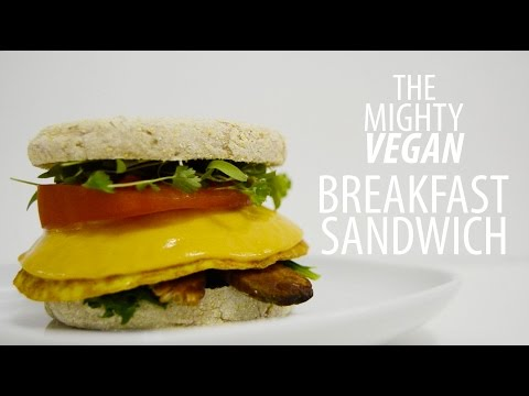 THE MIGHTY VEGAN BREKFAST SANDWICH || Vegan Egg Patty | recipe