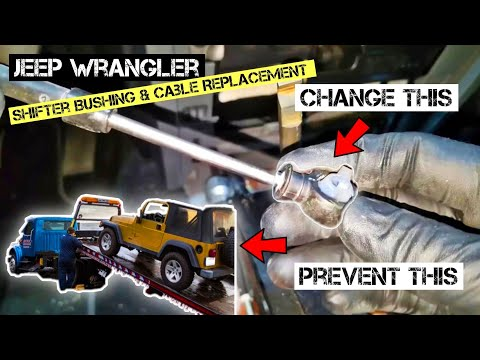 Shifter Cable Replacement Bad Bushing 68064273AB Jeep Wrangler Jk jl