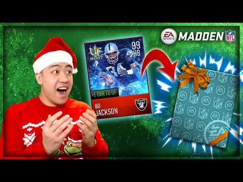 MADDEN MOBILE 18 NEW 99 OVR BO JACKSON!! OPENING THE BEST PRESENTS!!