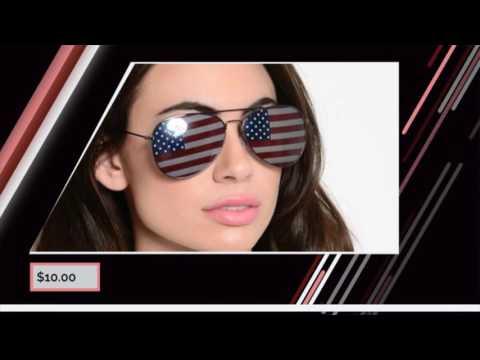 Aviator style American Flag sunglasses