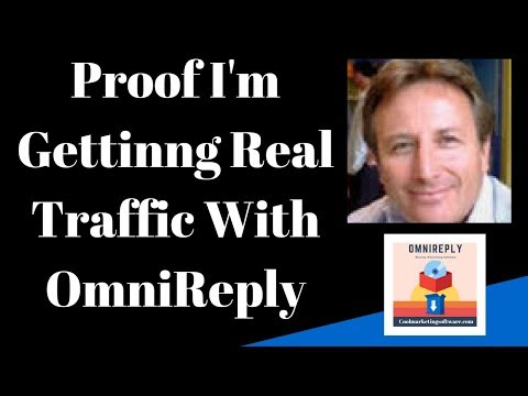 Proof I am Getting Real Traffic With OmniReply Software