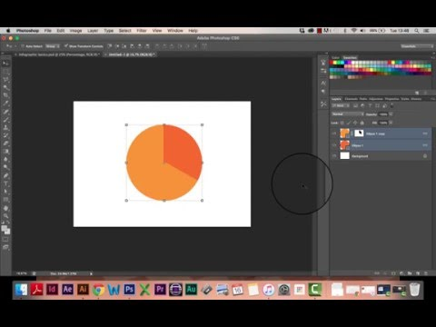 INFOGRAPHIC TUTORIAL PART 1 - How to draw a pie chart in Photoshop