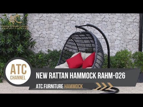 New Furniture Wicker Hammock Hanging Chair | RAHM-026 | 4K Video