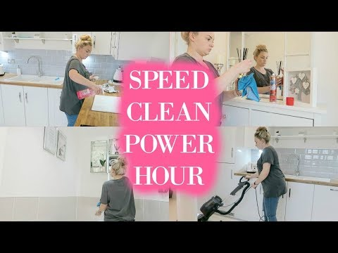 POWER HOUR SPEED CLEANING | CLEAN WITH ME | KITCHEN CLEAN | STAY AT HOME MOM / MUM | MRS SMITH & CO.