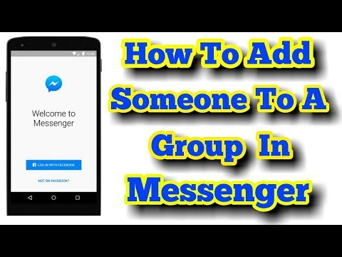 How To Add Someone In a Group conversation On messenger