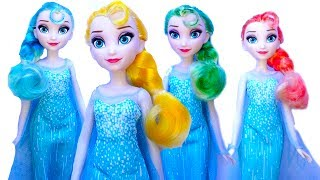 Learn Colors With Johny Johny Yes Papa Nursery Rhyme and Frozen Elsa's Hair
