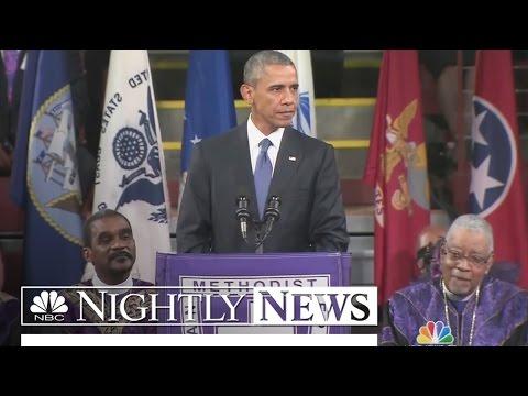 President Obama Delivers Eulogy for Slain Rev. Clementa Pinckney | NBC Nightly News