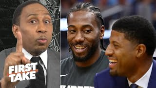 Stephen A. is holding off on crowning Kawhi-Paul George as the best NBA duo | First Take