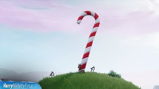 Fortnite Battle Royale - All Giant Candy Cane Locations Guide (14 Days of Fortnite Challenge)