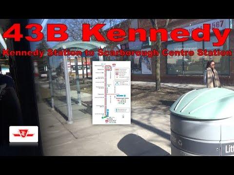 43B Kennedy - TTC 2017 Nova Bus LFS 8638 (Kennedy Station to Scarborough Centre Station)