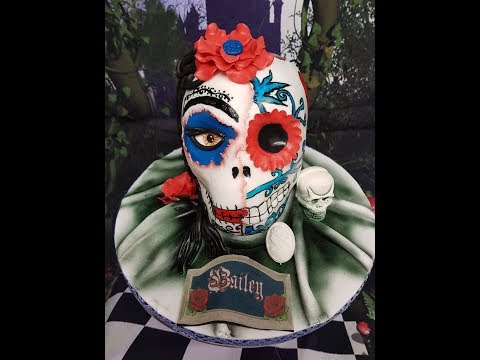 How to make a day of the dead skull cake tutorial