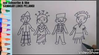 Menggambar Pakaian Adat Daerah Videos 9tubetv