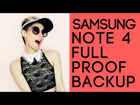 Full Backup Android Samsung Note 4 Contacts, Photos, Messages, Settings