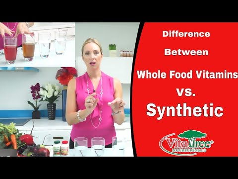 Whole Food Vitamins Vs. Synthetic Vitamins  Episode 5 of 5 : VitaLife Show Episode 209