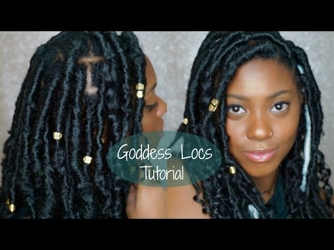Short Faux Goddess Locs | Quick And Easy Tutorial | AshleyEyes