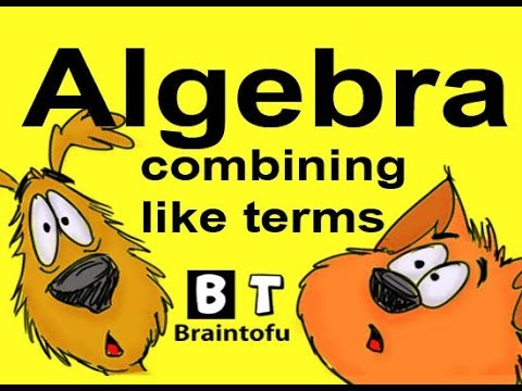ALGEBRA MATH for kids - combining like terms with exponents and variables - step by step