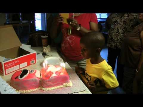 isaiah power ranger cake cutting celebration 7 18 14