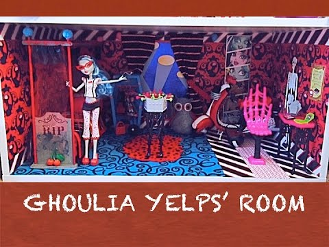 HOW TO MAKE A MONSTER HIGH DOLL ROOM FOR GHOULIA YELPS