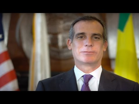50/50 Day - The Honorable Mayor of Los Angeles. Eric Garcetti