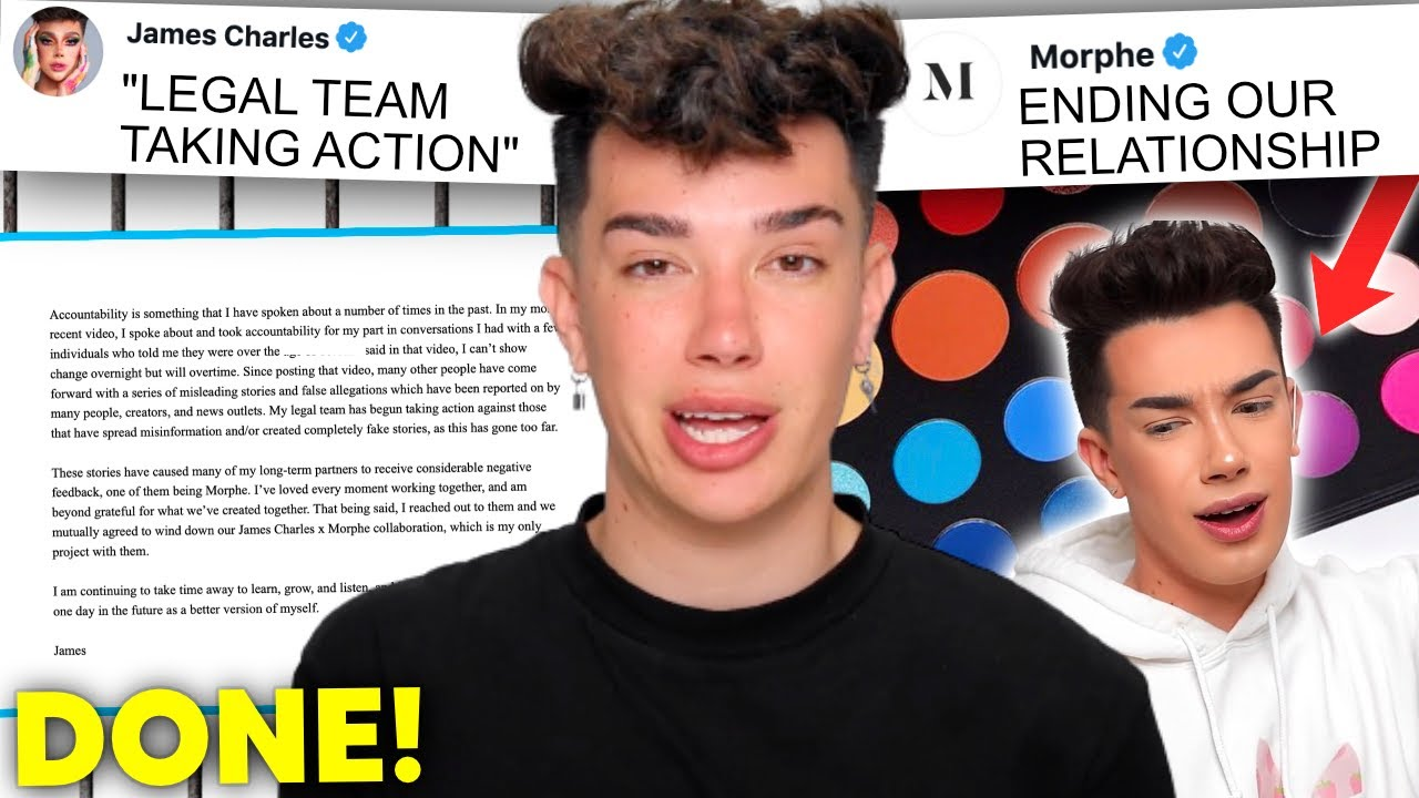 James Charles SUING after Morphe dropped him...