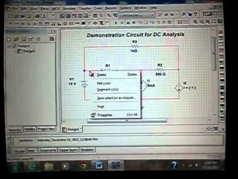 How to: simulate a simple DC circuit using Multisim