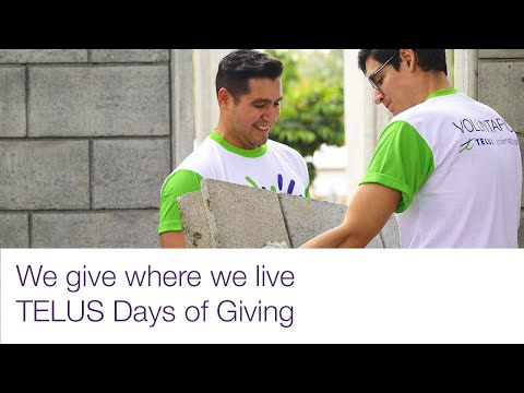 TELUS Days of Giving | We give where we live