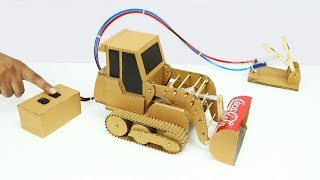 How To Make Remote Control Hydraulic Bulldozer From Cardboard
