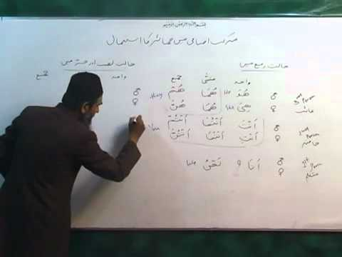 Arabic Course by Sheikh Aamir Sohail Lecture 14 (Urdu)