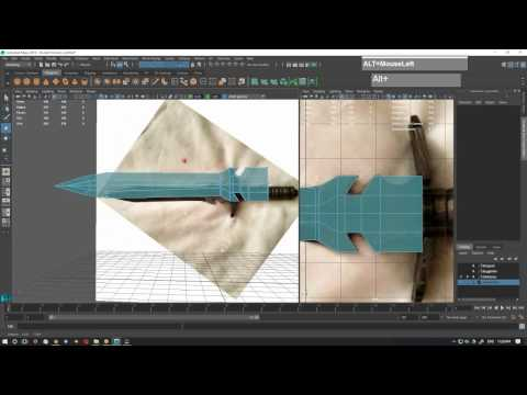 Knife and Sword Blade Modeling Maya part 2 of 4