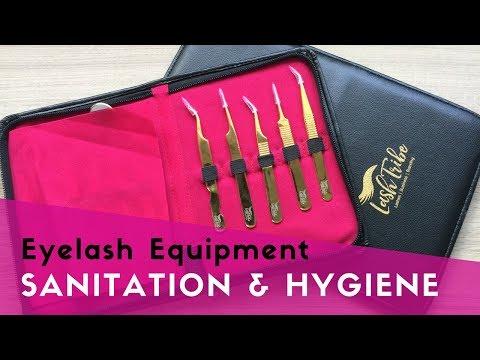 Eyelash Equipment Sanitation and Hygiene