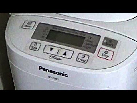 How to make bread using Panasonic SD-2501 Breadmaker