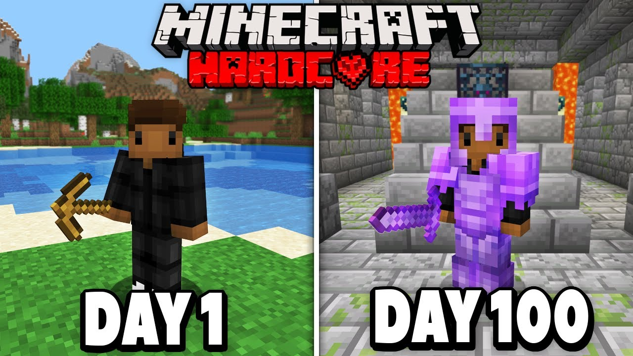 I Survived 100 Days in HARDCORE Minecraft.. Here's What Happened