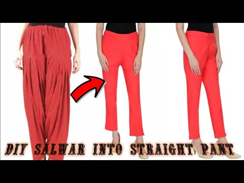 Convert/Reuse/Recycle Old Salwar/Patyalla Into Straight Pant