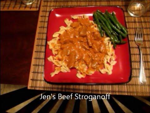 Jen's Beef Stroganoff