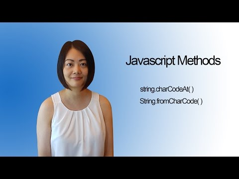 Javascript methods - string.charCodeAt & string.fromCharCode
